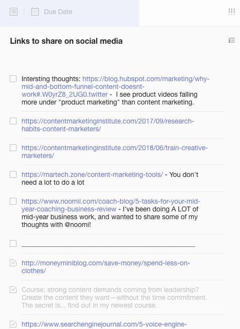 list of thinks social media marketing